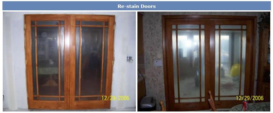 restain-doors